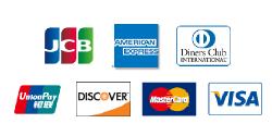 JCB・AMEX・DinersClub・銀聯・DISCOVER・MasterCard・VISA